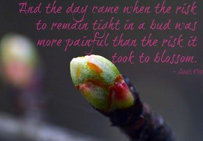 Anais Nin blossom quote
