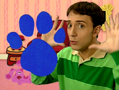 Play Blue Clues and find a paw print.