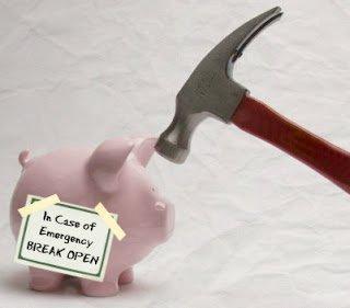 emergency piggy bank break open