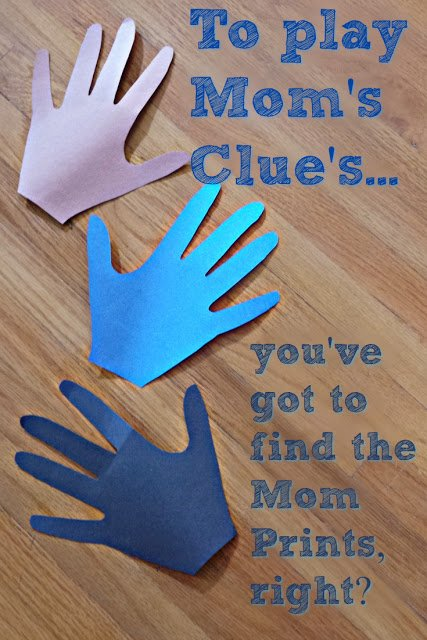 Mom Prints for playing Blue's Clues at Home