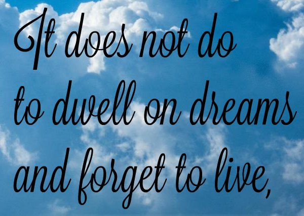 Harry Potter quote on dreams, wishes and dreaming.