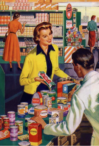 Happy grocery shopping for the 50s housewife, no panic attacks here.