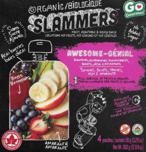 Slammers Snacks for school lunchtime.