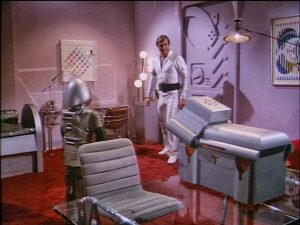 High tech sci-fi apartment of the future.