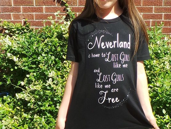 I am a Lost Girl from Neverland… Free T-Shirt Design