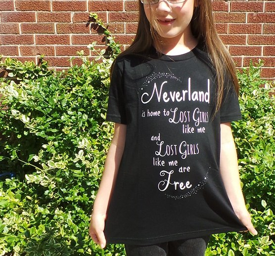 Neverland is home to lost girls t-shirt.