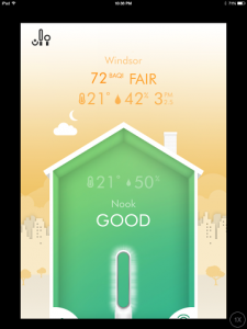 Dyson Link app helps you monitor both outdoor and indoor air quality.