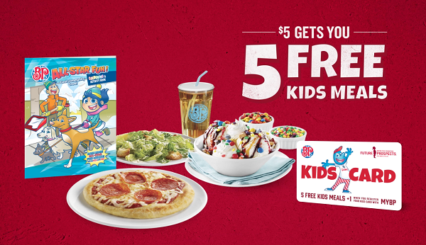 Boston Pizza deal $5 for 5 FREE Kids Meals