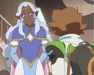 Pidge and Allura, the female characters of team Voltron.