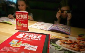 Five free kids meals at Boston Pizza.
