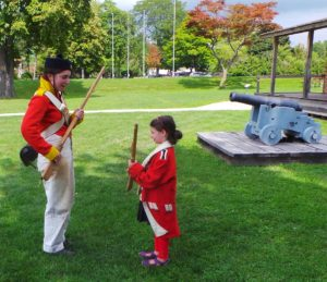 Six year old joins the War of 1812 militia at Fort Amherstburg