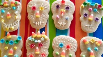 Day of the Dead Sugar Skull Sugar Cookies