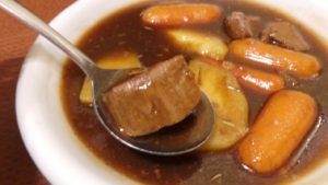 A recipe for beef stew.