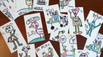 DIY Business Card Valentines (For Kids)