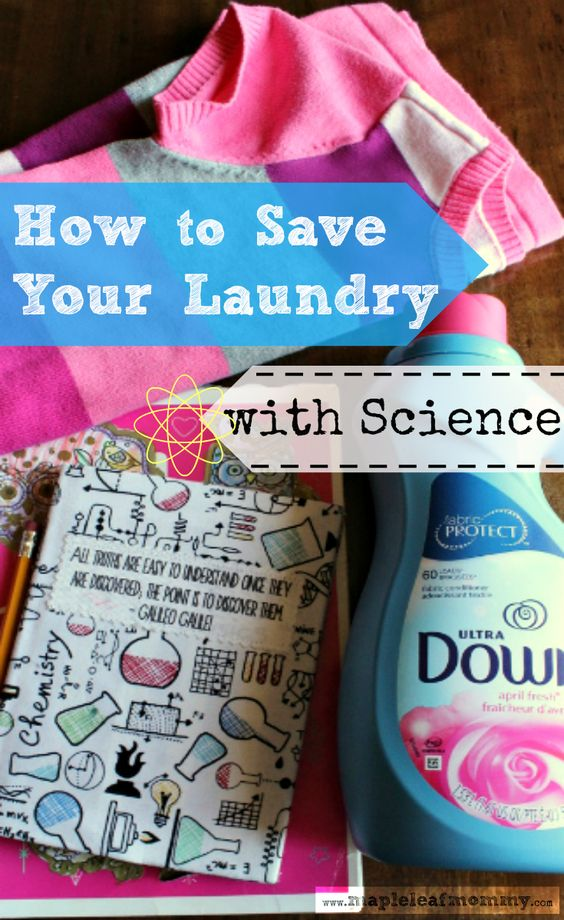 How to Save Your Launcry with Science (and Downy)