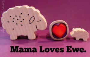 Sheep Valentine card from mom to child