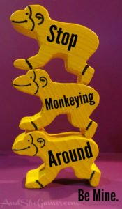 Monkey Animeeple Valentine for Board Gamers