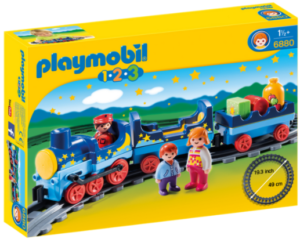 Playmobil for infants, train track set.