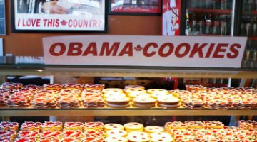 Legendary Obama Cookie at Moulin De Provence Bakery in Byward Market, Ottawa