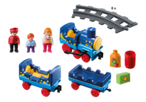 Night Train set with 17 pieces, preschooler Playmobil