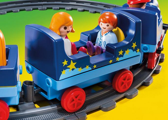 Baby Playmobil train and track.