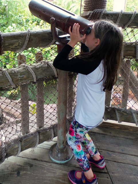 Built in binoculars and other things to discover and play with.