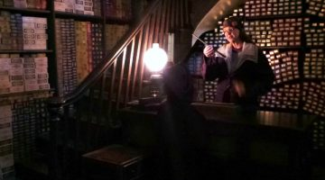 A Visit to Ollivanders Wand Shop, at Universal Orlando's Wizarding World of Harry Potter