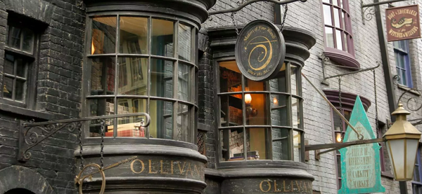 Ollivanders wand shop in Diagon Alley at Universal Orlando