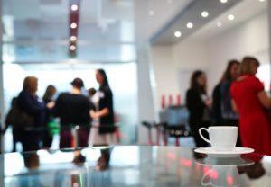 Virtual coffee break with blogger friends.