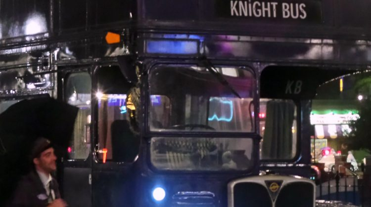 Nigel and the Knight Bus, a Magical Moment inside the Wizarding World of Harry Potter