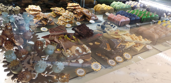 Sweets, chocolates, macaroons, treats, all for sale at Toothsome's.
