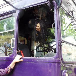 Night Bus, shrunken head REALLY talks to you.