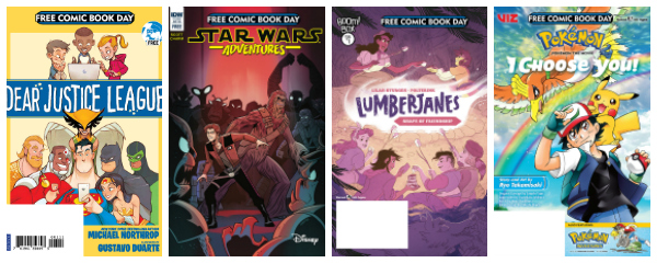 Free comics for kids on Free Comic Book Day.