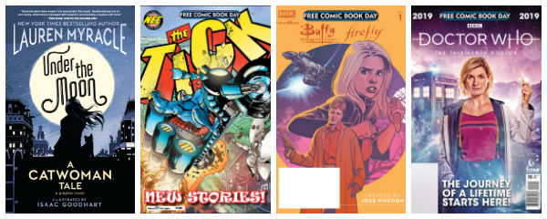 Catwoman, The Tick, Doctor Who, free books you can get at FCBD 2019.