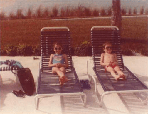 Me and my brother, chilling in Florida, circa 1983.