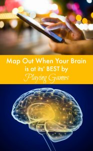 You can map out when your brain is at its' best by playing your favourite online games. Yep. For real. Check out this post for suggestions on how to use playing games on your cell phone to chart out when your mind is at its' sharpest.