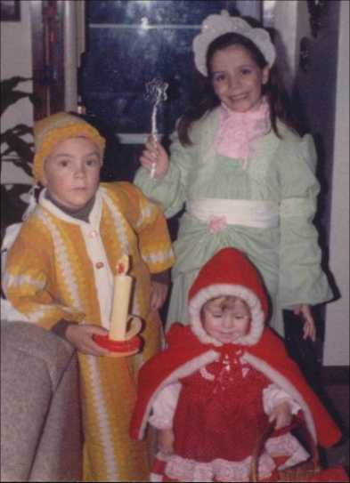 Homemade Halloween costumes in the 1980s.