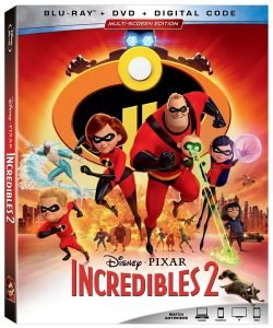Disney's Incredibles 2 now on DVD.