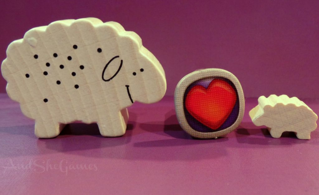 Sheep meeple geeky gamer valentine.