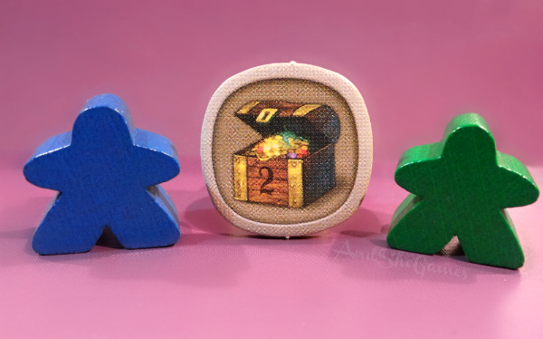 Meeple and treasure for a geeky valentine.