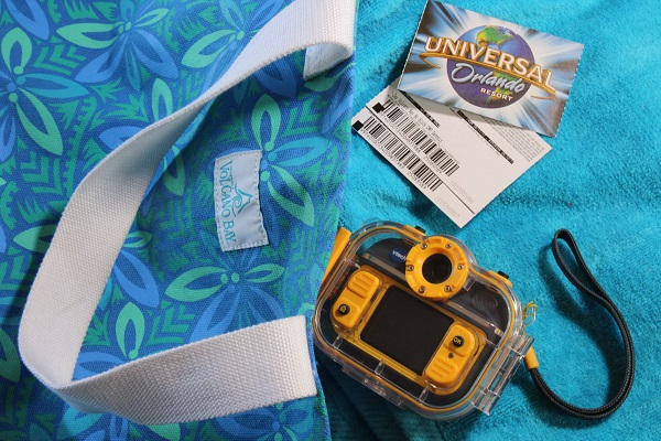 Heading to Volcano Bay waterpark with Vtech's waterproof kid's action camera.